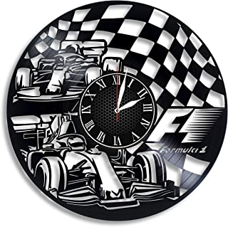 Formula 1 Racing Vinyl Wall Clock, Formula 1 Racing Design Gift for Any Occasion