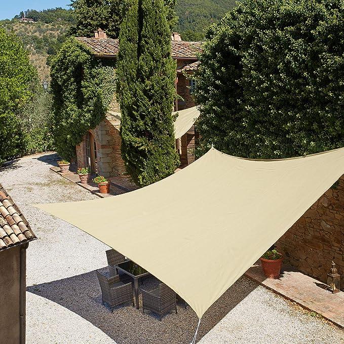 TecTake Toldo Vela jardín protección UV | con Juego de Cables tensores | - Varios Modelos - (Triangular | 3,6 m | No. 401808)