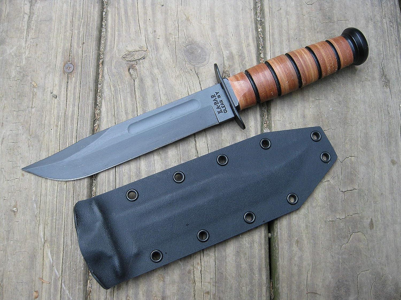 Valhalla Custom overseas Kydex Sheath Ka-bar BLACK 1217 shopping Fighting Knife Tw