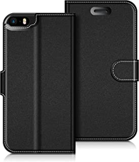 dbfcaa6f52a COODIO Funda iPhone Funda Cuero iPhone 5S, Funda Cartera iPhone 5 Case con  Magnético/