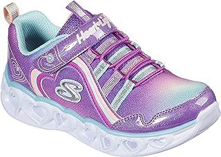 Skechers Unisex-Child Heart Lights-Rainbow Lux Sneaker