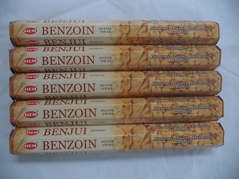 作物革命ファッションHemベンゾイン100?Incense Sticks (5?x 20スティックパック)