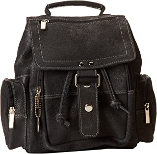 David King & Co. Mid Size Top Handle Backpack Distressed, Black, One Size