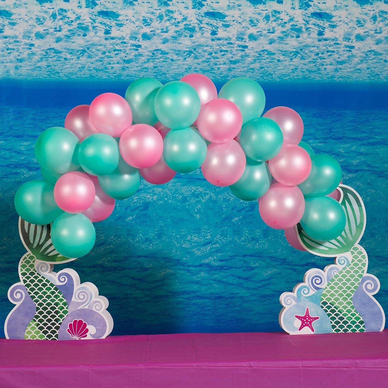 価格 交渉 送料無料 Mermaid トラスト Waves and Wishes Tabletop Photo Balloon Boo Arch Standup