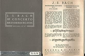 Bach Brandenburg Concerto No.3 in G major Heugel Pocket Score