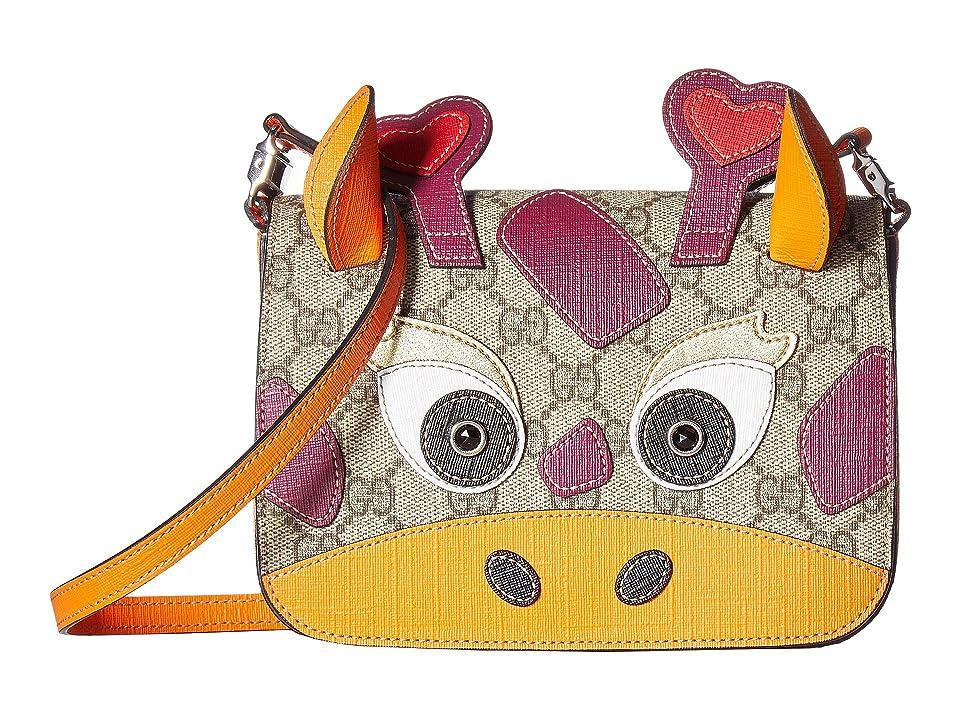Gucci Kids GG Supreme Camel Handbag (Little Kids Big Kids) (Beige  7296427c54333