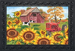 Briarwood Lane Sunflower Barn Fall Doormat Tractor Autumn Indoor Outdoor 18