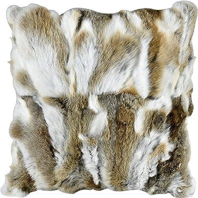 Amazon.com: Patchwork cojines almohadas de piel de conejo de ...