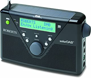 Roberts DAB/FM Digital Solar Radio - Black