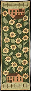Park Designs House and Sunflower Hooked Rug Runner 24X72, 24 x 72