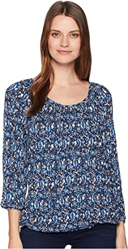 Paisley Wood Peasant Top