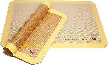 Silicone Baking Mat for Macaron- Two Half Sheet Mat Set 16.5 x 11 5/8 - Non Stick - Cookie Sheet - Baking Liner - Perfect ...