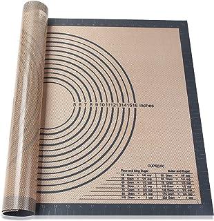Smilelove Tapis de pâtisserie en Silicone pour Tapis de Cuisson en Silicone Rouge Taille (51x71 cm Gris)