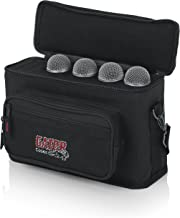 Gator Cases Padded Microphone Carry Bag; Holds up to (4) Wired Microphones (GM-4)
