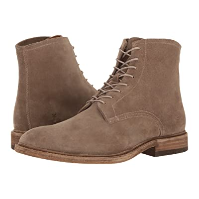 Frye Chris Lace-Up (Grey Oiled Suede) Men