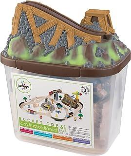 comprar comparacion KidKraft- Bucket Top Juego de tren con vía de madera para niños, vía clásica con grúa y accesorios incluidos (61 piezas) (...