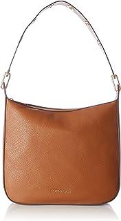 MICHAEL Michael Kors Womens Raven Leather Tote Shoulder Handbag Brown Large