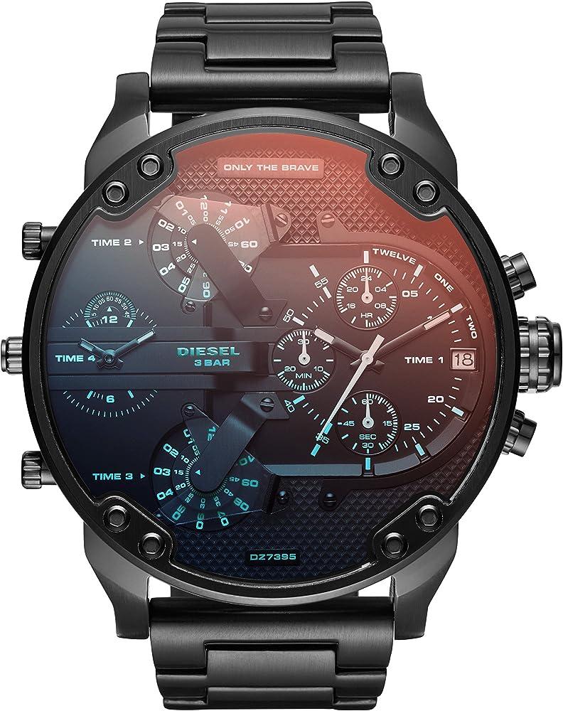 Diesel orologio cronografo  analogico uomo in acciaio inossidabile DZ7395
