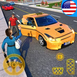 Sports Car Crazy Taxi Driver 2019: Yellow Cab American Car Driving Simulator Games for Kids - FREE