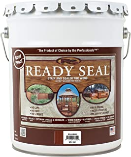 Ready Seal 530 5-Gallon Pail Mahogany Exterior Wood Stain and Sealer