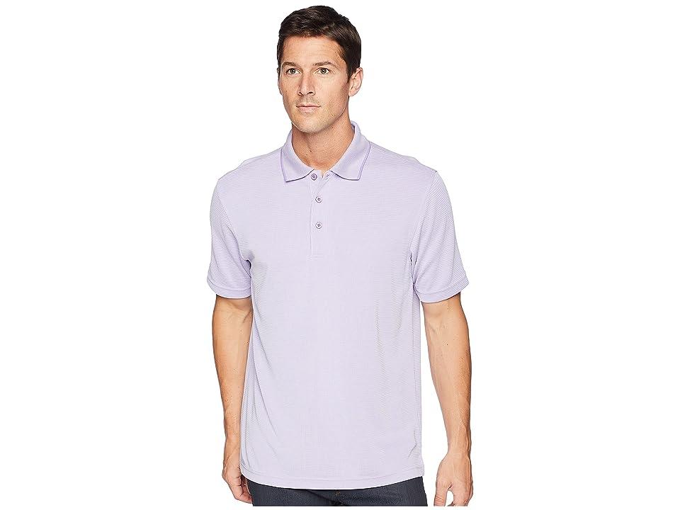 BUGATCHI Short Sleeve Polynosic Polo (Lavender) Men