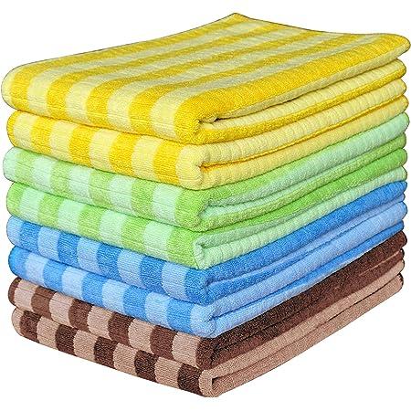 Gryeer 8er Set Microfaser Geschirrtücher 2 Braun 2 Blau 2 Grün 2 Gelb Weiche Super Saugfähige Und Fussel Freie Küchentücher 45 X 65 Cm