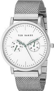 Ted Baker Men's TE3037 Smart Casual Silver Case Multi-Function Mesh Strap Watch