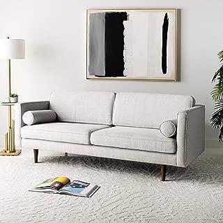 Safavieh Couture Hurley Light Grey Mid-Century Modern Sofas, gray