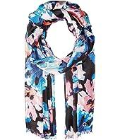 Calvin Klein - Painted Floral Silk Scarf