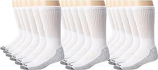 Dickies Men's Dri-Tech Comfort Crew Socks, White , 18 Pair