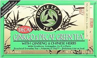 Triple Leaf Tea, Ginkgo & Decaf Green Tea, 20 Tea Bags 1.27 OZ (Pack of 6)
