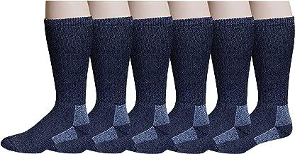 6 Pairs Pack Men's 75% Merino Wool Hiking Thermal Socks