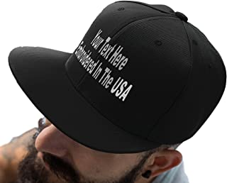 Custom Snapback Hat. Otto. Embroidered. Your Own Text Flatbill Bill Snapback.