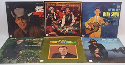 Classic Country Lot of 6 Vinyl Record Albums Eddy Arnold Johnny Lee Hank Snow Kenny Rogers Jimmy Dean Jerry Lee Lewis