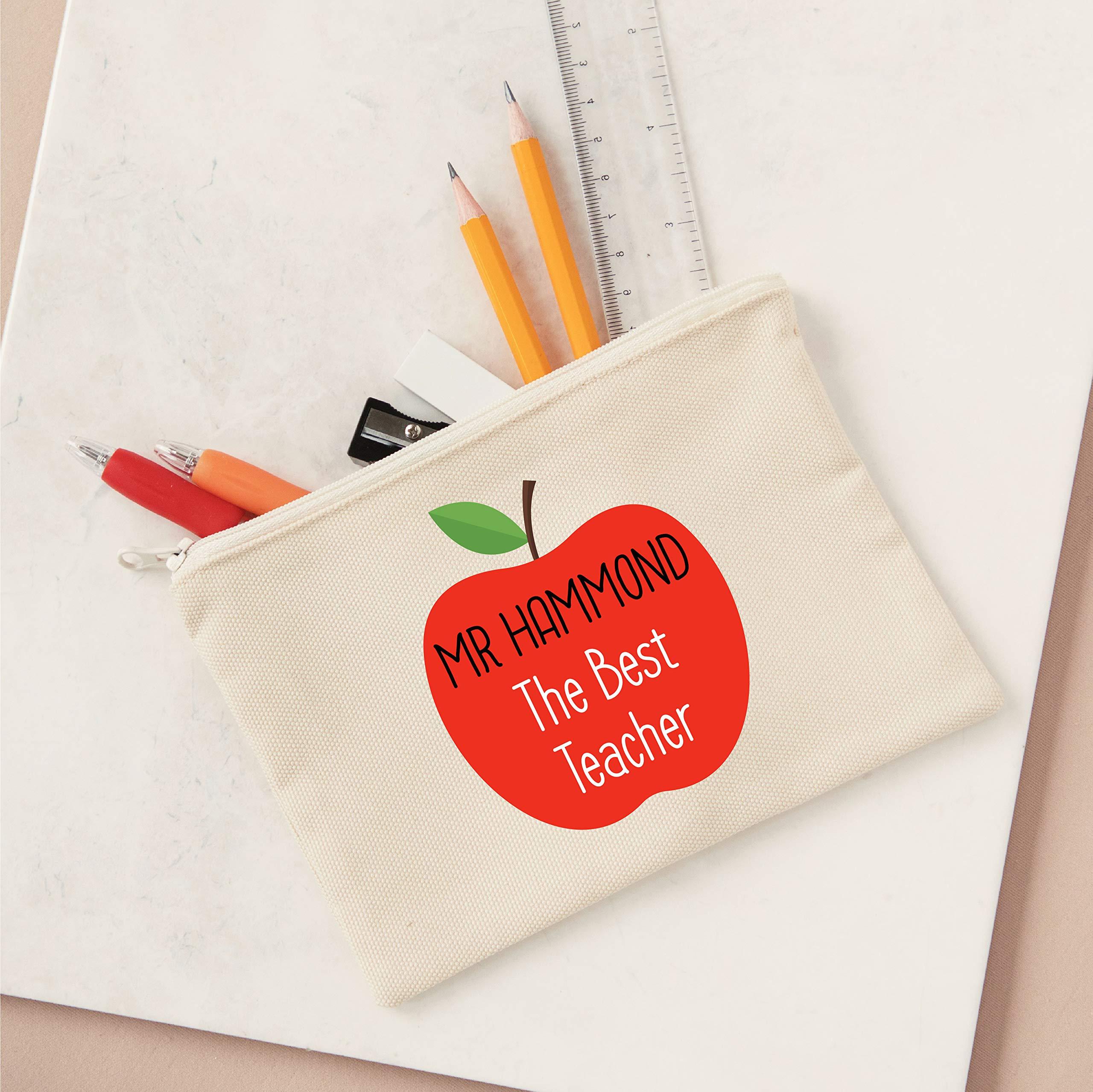Estuche personalizado para lápices de estilo lona con el mejor profesor: Amazon.es: Oficina y papelería