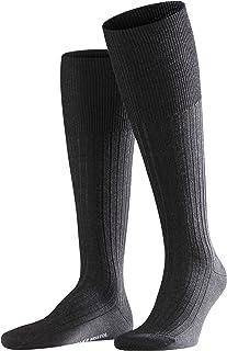 FALKE Kniestrümpfe Bristol Pure Schurwolle Herren schwarz blau viele weitere Farben verstärkte Kniesocken mit Muster atmungsaktiv lang einfarbig hoch und warm gerippt hochwertig 1 Paar