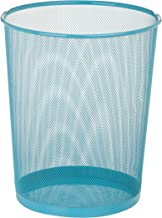 Honey-Can-Do Steel Mesh Powder Coated Waste Basket, 11.65 by 14-Inch Tall, Blue