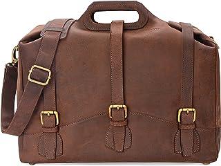 LEABAGS Bakersfield Handtasche aus echtem Büffel-Leder im Vintage Look - Muskat