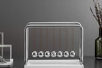 CERROPI 7 Balls Newtons Cradle, Swing Above 45 Sec, 8mm Stainless Steel Frame, Nano-Tech String