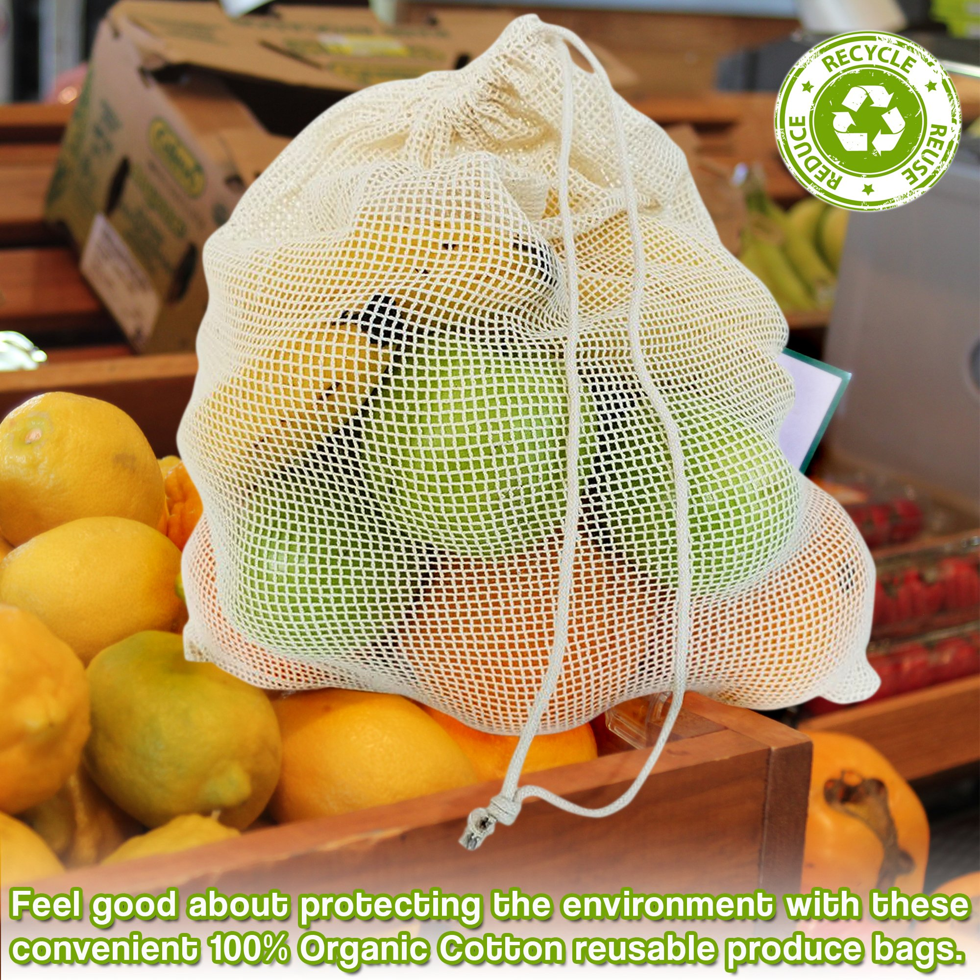 6 Bolsas de Vegetales Reutilizables (S M L) - Ecológico y ...