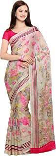 Vaamsi Polyester Georgette Saree with Blouse Piece