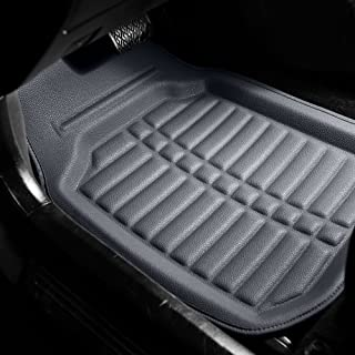 FH Group Solid Gray F14409SOLIDGRAY Deep Tray All Weather Floor Mats 4 Piece Set