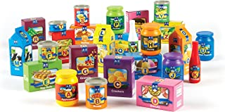 Learning Resources A to Z Alphabet Groceries, Imaginative Play Food, 26 Pieces, Ages 3+