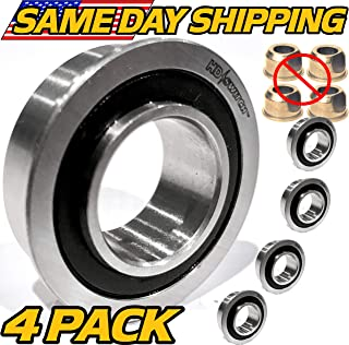 (4 Pack) 1742259YP Snapper Simplicity Front Wheel Bushing to Bearing Conversion Kit - OEM Upgrade - HD Switch