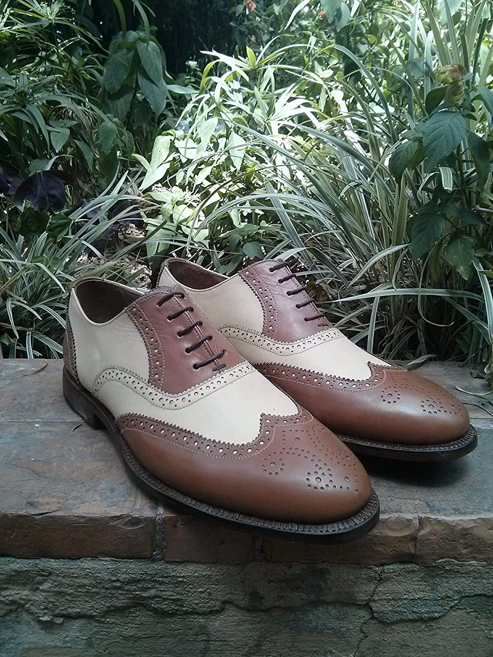 Handmade Correspondents Wingtip Oxfords For Men Custom Made Shoes for Men