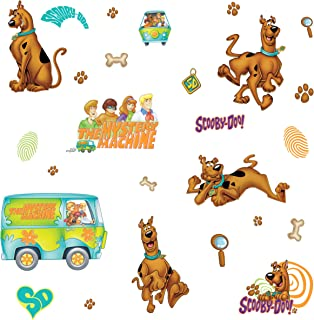RoomMates RMK1696SCS Scooby Doo Peel and Stick Wall Decals,Multicolor