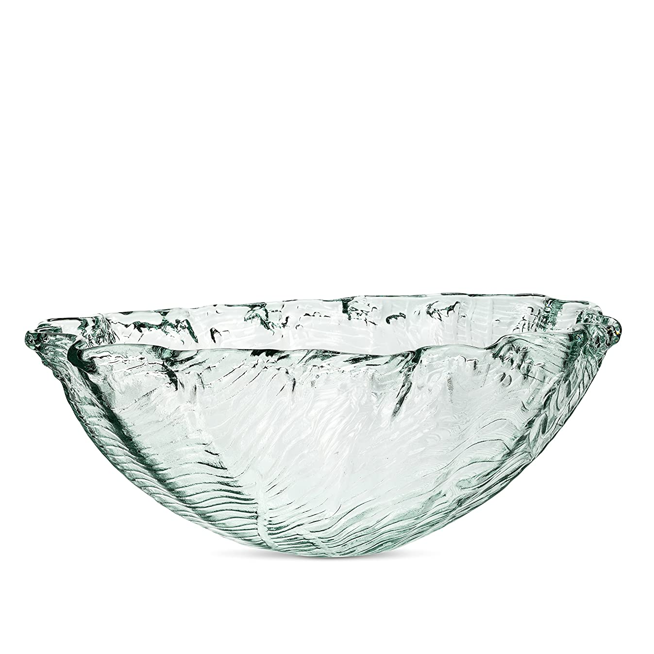 Abbott Collection 83-SEQUOIA-503 Textured Clam Bowl Clear