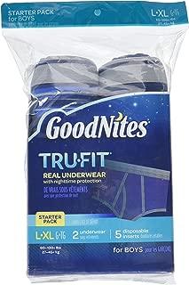 GoodNites Tru-Fit Starter Kit Boy, 2 underwear, 5 disposable inserts, Large, XL