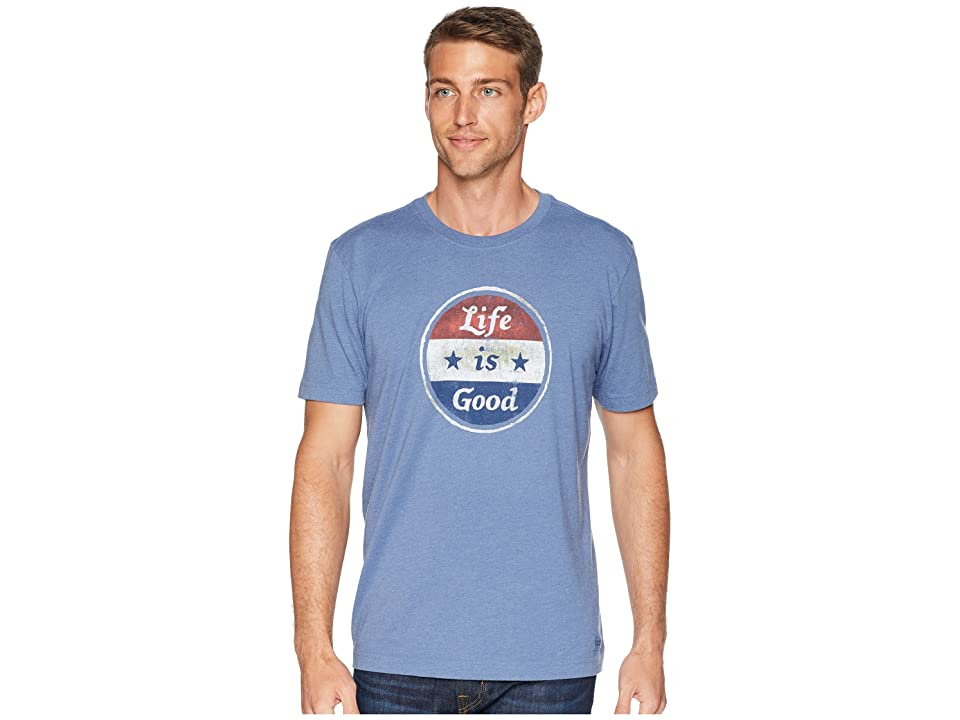 87865afcd404ad Life is Good Americana Coin Crusher Tee (Heather Vintage Blue) Men