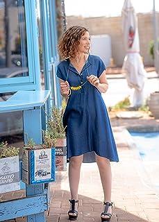 1426732e38f8 Handmade Designer Women s Oversized Spring or Summer Blue Denim Dress